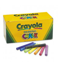"Crayola Colored 3-3/16"" Drawing Chalk, Assorted, 144-Sticks"