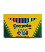 "Crayola Colored 3-3/16"" Drawing Chalk, Assorted, 12-Sticks"