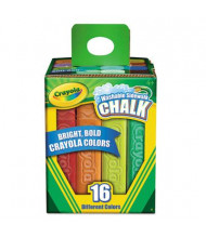 "Crayola Washable 4-1/16"" Sidewalk Chalk, Assorted, 16-Sticks"