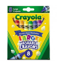 Crayola Large Washable Crayons, 8-Colors