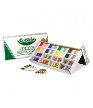 Crayola 128-Crayons & 128-Washable Markers Classpack, 8-Colors