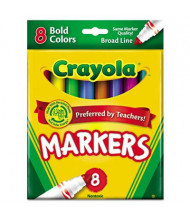 Crayola Non-Washable Marker, Broad Point, Bold Assorted, 8-Pack