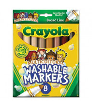 Crayola Multicultural Washable Marker, Conical Point, Assorted, 8-Pack