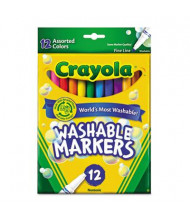 Crayola Washable Marker, Fine Point, Assorted, 12-Pack