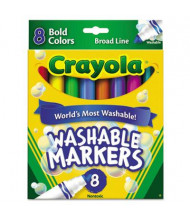 Crayola Washable Marker, Broad Point, Bold Assorted, 8-Pack