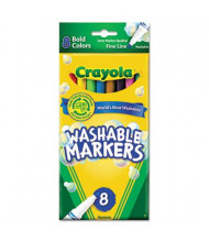 Crayola Washable Marker, Fine Point, Bold Assorted, 8-Pack