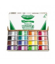 Crayola Classpack Markers, Broad Point, 16-Colors, 256-Markers