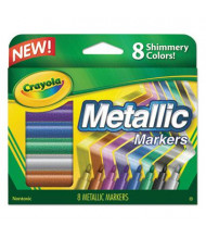 Crayola Metallic Marker, Conical Point, Assorted, 8-Pack