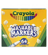Crayola Pip-Squeaks Skinnies Washable Marker, Assorted, 64-Pack