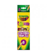 Crayola Multicultural 3.3 mm Assorted Colors Woodcase Pencils, 8-Pack