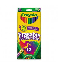 Crayola Erasable 3.3 mm Assorted Colors Woodcase Pencils, 12-Pack