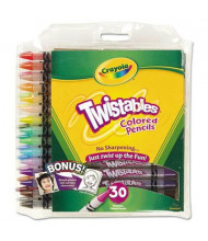 Crayola Twistables 2 mm Assorted Colors Woodcase Pencils, 30-Pack