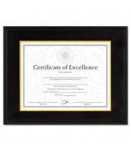 "DAX Hardwood Document/Certificate Frame, 11"" W x 14"" H, Black"