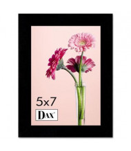 "DAX Solid Wood Picture Frame, 5"" W x 7"" H, Black"
