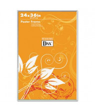 "DAX U-Channel Poster Frame,  24"" W x 36"" H, Clear Plastic Window and Border"