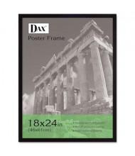 "DAX Flat Face Poster Frame, 18"" W x 24"" H, Black Border"