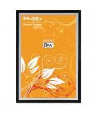 "DAX Metro Series Wood Poster Frame, 24"" W x 36"" H, Black and Silver"