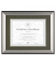 "DAX Charcoal and Nickel Tone Wood Document Frame, 11"" W x 14"" H"