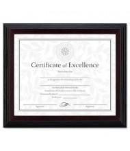 "DAX Solid Wood Certificate Frame, 8"" W x 10"" H, Stepped Walnut Trim, Black"