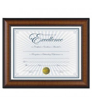 "DAX Prestige Document Frame, Gold Accents, 8.5"" W x 11"" H, Walnut and Black"