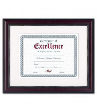 "DAX Prestige Document Frame, 11"" W x 14"" H, Rosewood and Black"