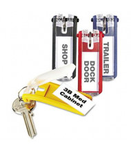 "Durable 1-1/8"" x 2-3/4"" Key Tags for Locking Key Cabinets, Assorted, 24/Pack"