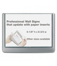"Durable 6.8"" W x 5"" H Click Sign Holder For Interior Walls"