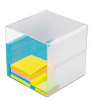 Deflect-o Desk Cube, Clear Plastic