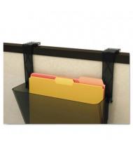 Deflect-o EZ-Link Break-Resistant Partition Brackets, Black, 2/Set