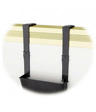 Deflect-o EZ-Link Break-Resistant Partition Brackets with Extension, Black, 2/Set