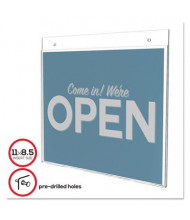"Deflect-o 11"" W x 8.5"" H Classic Image Single-Sided Wall Sign Holder"