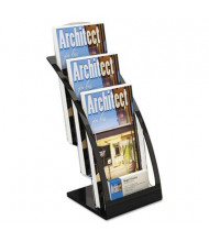 Deflect-o Three-Tier Leaflet Holder, Black