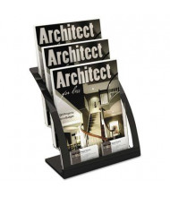 Deflect-o Three-Tier Magazine Holder, Black