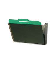 Deflect-o DocuPocket 1-Pocket Letter Stackable Wall File Pocket, Smoke