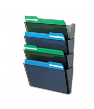 Deflect-o DocuPocket 4-Pocket Letter Wall File Pocket, Smoke