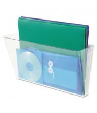 Deflect-o 1-Pocket Legal Stackable Wall File Pocket, Clear