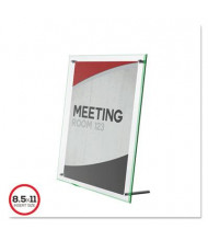 "Deflect-o 8.5"" W x 11"" H Beveled Edge Sign Holder"