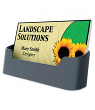 """Deflect-o Recycled Business Card Holder, Holds 50 2"""" x 3 1/2"""" Cards, Black"""