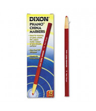 Dixon China Marker, Red, 12-Pack