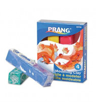 Prang 1/4 lb Modeling Clay, Assorted, 4/Pack