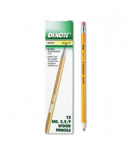 Dixon Ticonderoga Oriole #2.5 Yellow Woodcase Pencils, 12-Pack