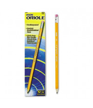 Dixon Ticonderoga Oriole #2 Yellow Woodcase Presharpened Pencils, 12-Pack