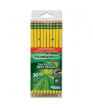 Dixon Ticonderoga #2 Yellow Woodcase Pre-Sharpened Pencils, 30-Pack