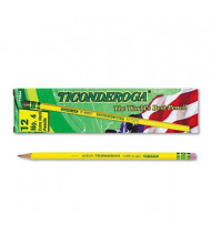 Dixon Ticonderoga #4 Yellow Woodcase Pencils, 12-Pack