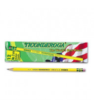 Dixon Ticonderoga #2.5 Yellow Woodcase Pencils, 12-Pack
