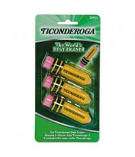 Dixon Ticonderoga Pencil-Shaped Latex-Free Eraser, 3-Pack