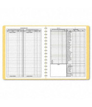"Dome 8-1/2"" x 11"" 128-Page Bookkeeping Record Book, Tan Vinyl Cover"