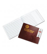 "Dome 10-1/2"" x 8-1/2"" 60-Page Notary Public Record Book, Burgundy Cover"