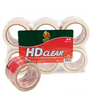 "Duck 3"" x 55 yds Heavy-Duty Carton Clear Packaging Tape, 3"" Core, 6-Pack"