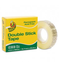 "Duck 1/2"" x 25 yds Permanent Double-Stick Tape, 1"" Core, Clear"